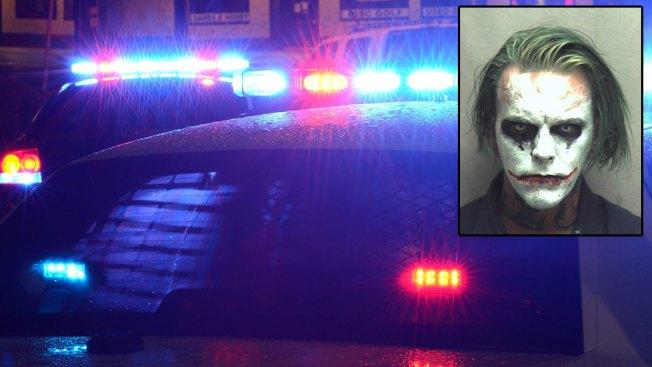 Man Carrying a Sword, Dressed as Joker Arrested in Virginia