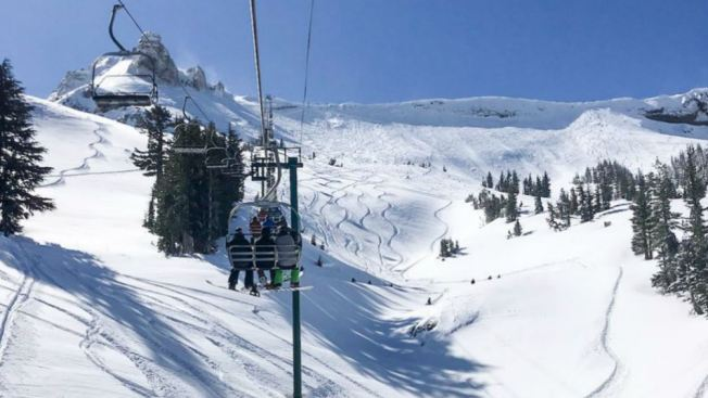 Just How Much Snow Fell Near Lake Tahoe Resorts Say Over