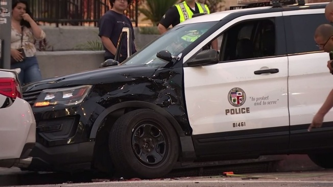 2 LAPD Officers Injured in Pico-Union Crash
