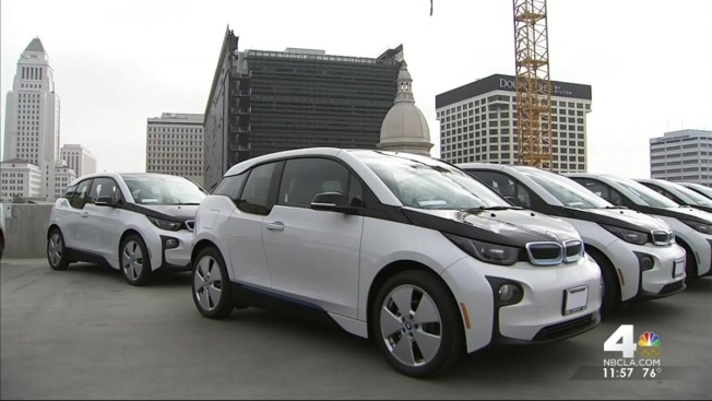 Lapd Unveils Fleet Of Bmw Electric Vehicles Nbc Southern California