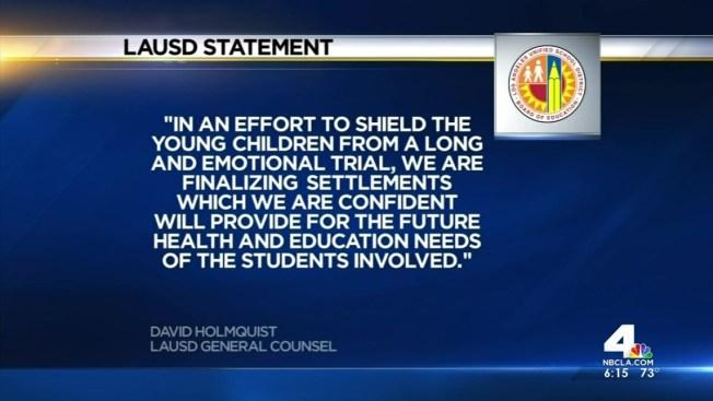 Lausd Agrees To 5 Million Settlement In Molestation Lawsuit Nbc