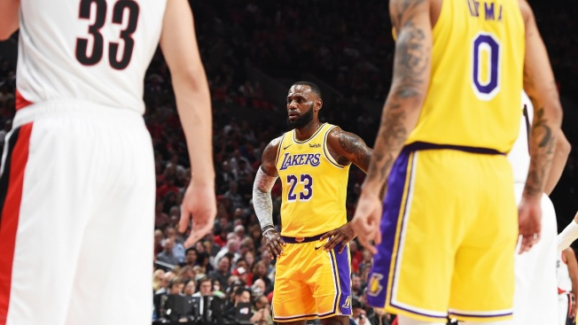 abcb10d3073 LeBron James Suffers Defeat in Lakers  Debut - NBC Southern California