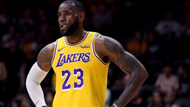70477a49de6 LeBron James Captivates Crowd in LA Lakers  Debut - NBC Southern ...