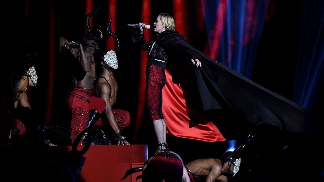 Madonna Falls Off Stage During Brit Awards Performance