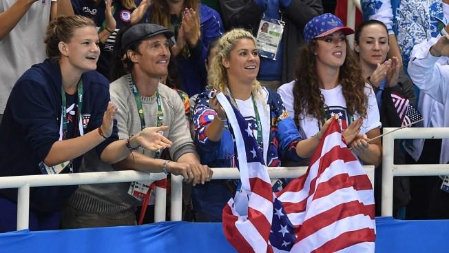 Matthew McConaughey Shows Team USA Pride at Rio Olympics