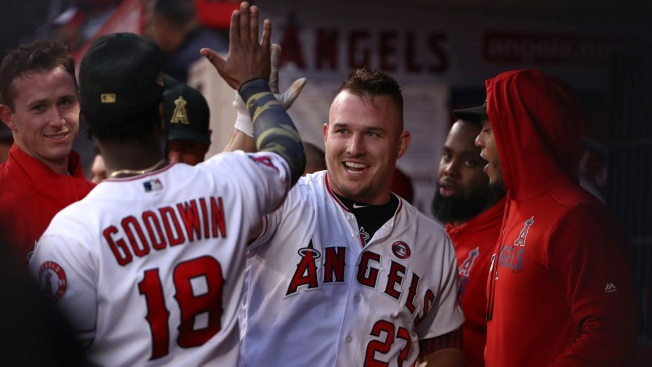 Mike Trout Hits 250th Homer To Lead Angels Over Royals 6 3 Nbc