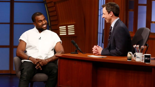 """Kanye West Compares Himself to Michelangelo on """"Late Night"""""""