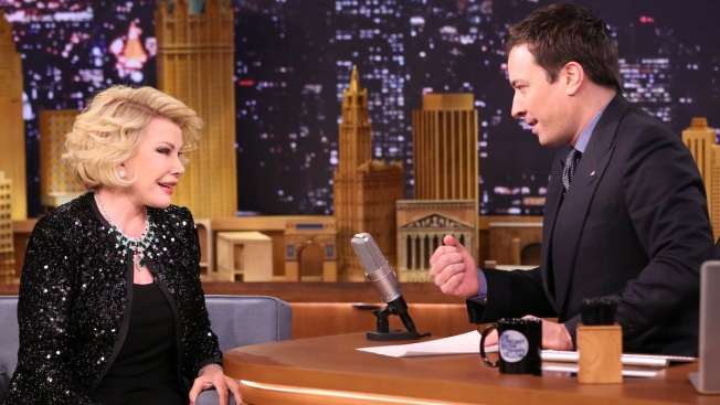 "Joan Rivers Returns to ""The Tonight Show"" With Her Wry Sense of Humor"