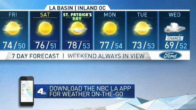 Oddly Shaped Weather Map.Today S First Alert Forecast Nbc Southern California