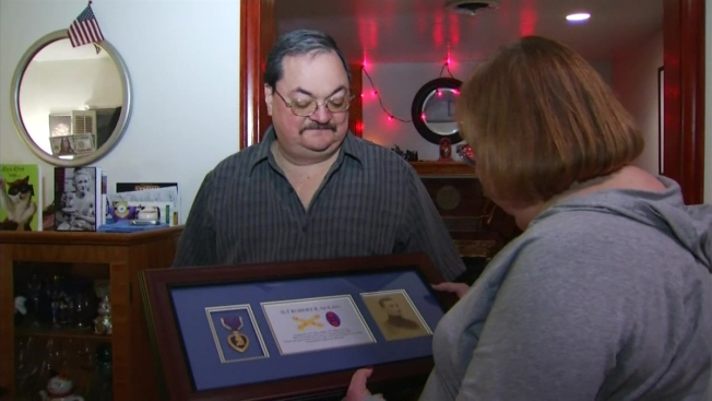 Lost Purple Heart Returned to Family of Local Marine Killed in World War II