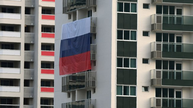 Russians Complain Flags Torn Down at Rio's Olympic Village