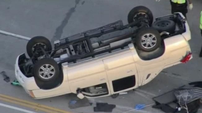 Road Rage Caught on Camera: Motorcyclist Kicks Sedan Before Multi-Car Crash