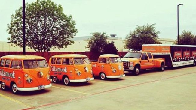 3 Bright Orange Cheese Company Trucks Recovered