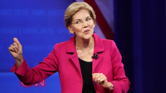 Elizabeth Warren Ramps Up Battle With Facebook