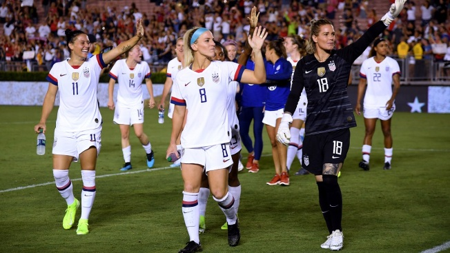 US Women Open Victory Tour at Rose Bowl, Beat Ireland 3-0