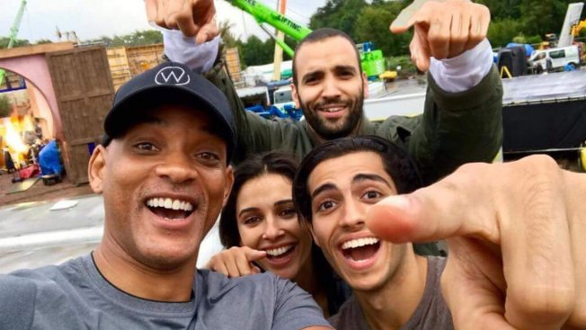 Wish Granted: First Look at Naomi Scott as Jasmine and Will Smith as Genie in Upcoming 'Aladdin'