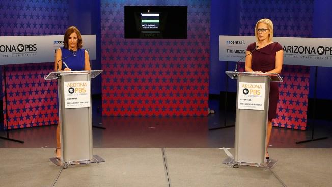 McSally Accuses Sinema of Backing 'Treason' in Arizona Senate Debate