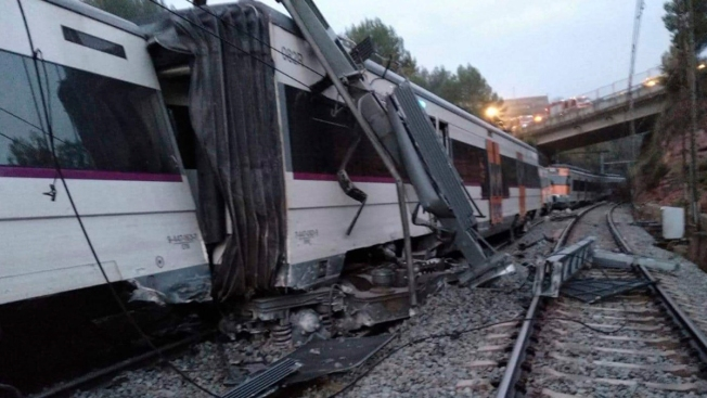 Landslide Derails Commuter Train Near Barcelona, Killing 1