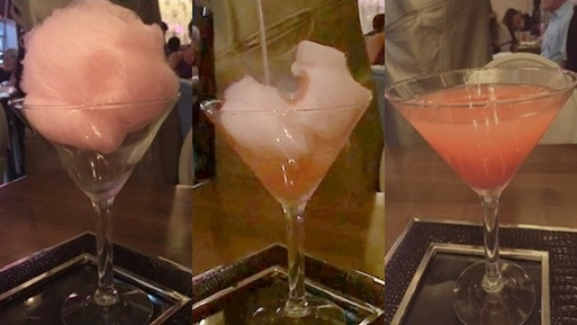 New: The Tableside Cotton Candy Martini