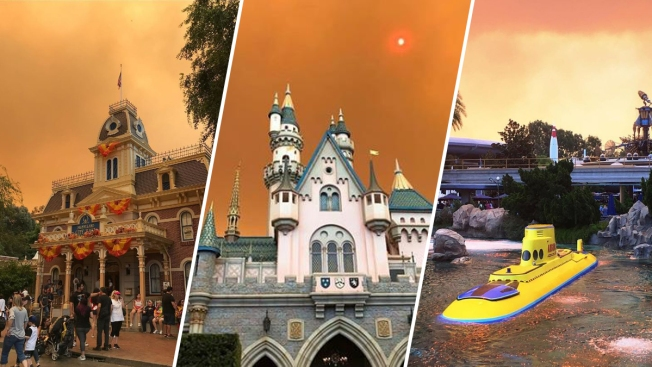 [NATL-LA] Sky Over Disneyland Glows Orange Due to Nearby Wildfire