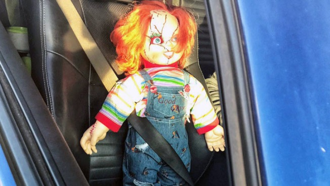 CHP Gets Kick Out of 'Chucky,' Not Gruden, Riding Shotgun in Carpool Lane