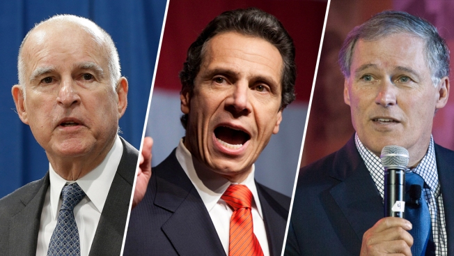 Governors Of California New York Washington Form Climate - Governors of california