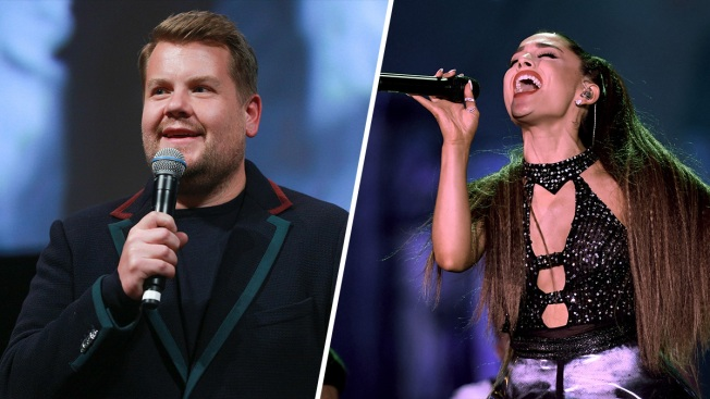 Ariana Grande and James Corden Sing 13-Song 'Titanic' Musical in 1 Take
