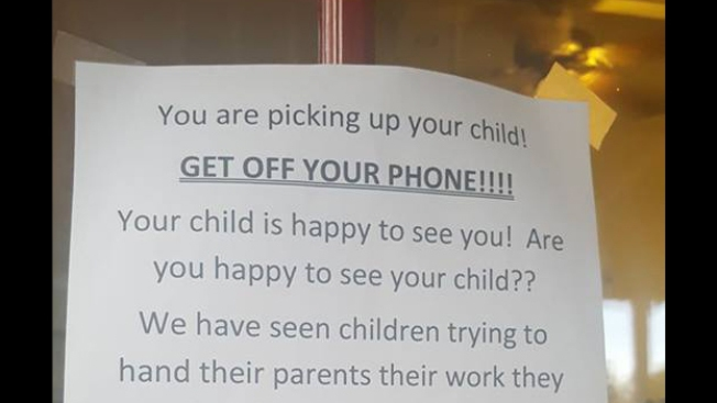 'Get Off Your Phone!' Day Care's Message to Parents