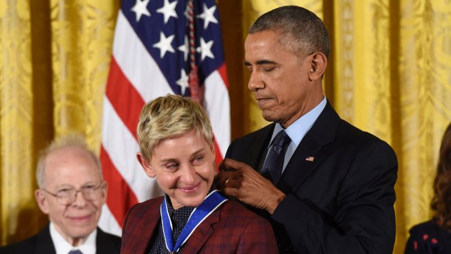 DeGeneres Does Mannequin Challenge After Being Initially Blocked From White House Award Ceremony