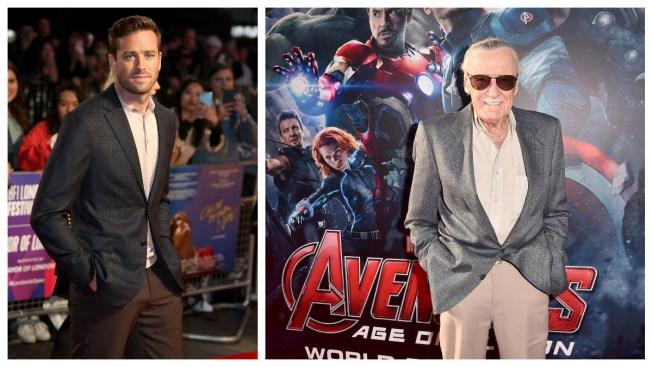 Armie Hammer Under Fire for Critique of Stan Lee Selfie Tributes