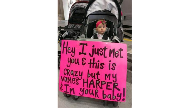 Baby Meets Her Soldier Dad for the First Time, Greets Him With Adorable Poster