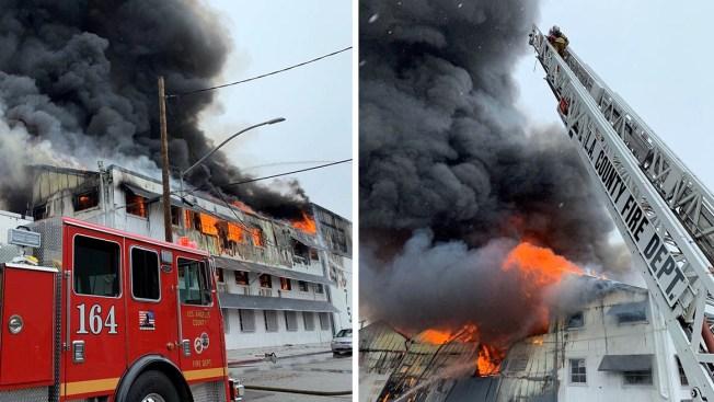 Massive Fire Eats Away at Huntington Park Building