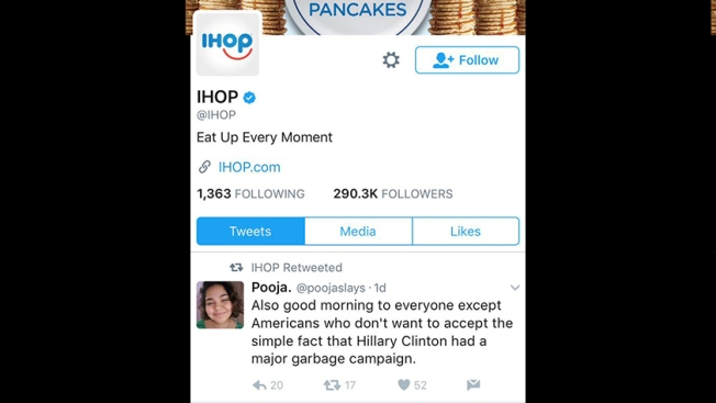 IHOP Says They Were Hacked When Politically-Charged Retweet Appears