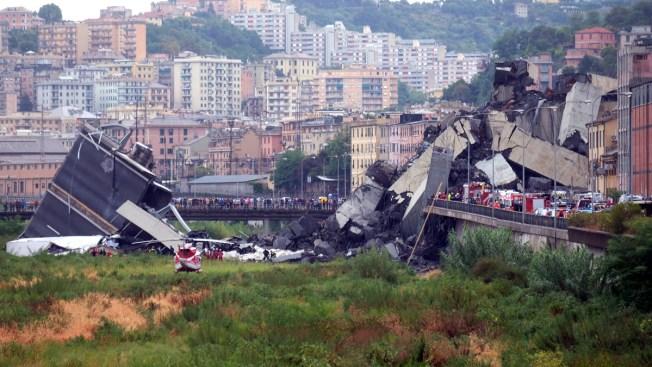 [NATL] Top News Photos: Deadly Italy Bridge Collapse