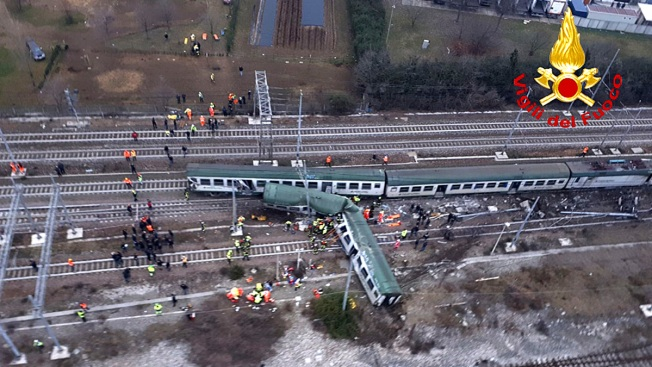 Italian Train Derails Near Milan, 2 Dead, Many Injured