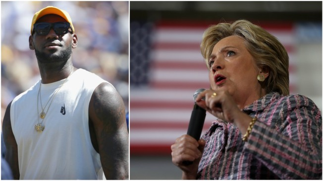 LeBron James Throws Support Behind Hillary Clinton