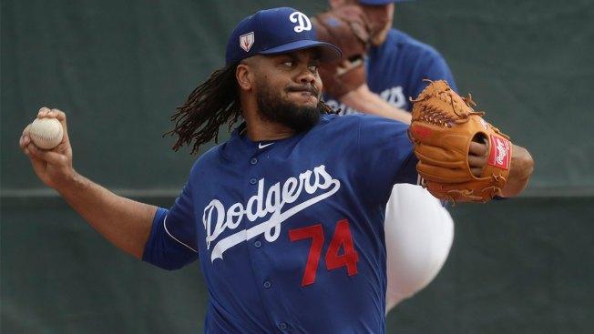 Dodgers Closer Kenley Jansen Showing Heart
