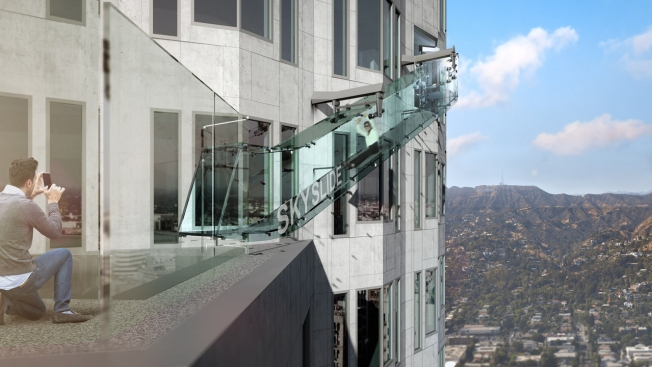 Glass Slide Heads for Downtown Skyscraper