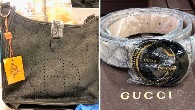 Huge LAX Bust Stops Smuggled Counterfeit Hermes, Louis