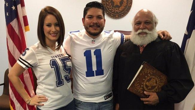 Texas Prosecutor Sworn in Wearing Cowboys Jersey