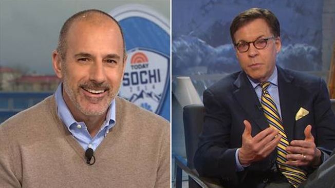 Matt Lauer Hosts NBC Olympics Coverage, After Eye Infection Sidelines Bob Costas