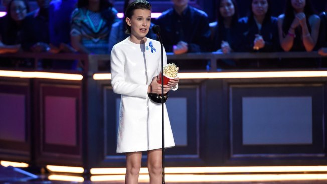 'Stranger Things' Star Millie Bobby Brown Breaks Down While Accepting Best Actor in a Show Award at 2017 MTV Movie & TV Awards