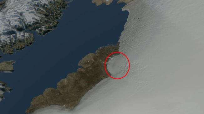 Giant Crater Believed to Be Hiding Under Greenland Ice
