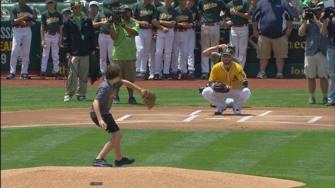 Oakland A's Fan Who Threw Telerobotic First Pitch Tosses One in Person
