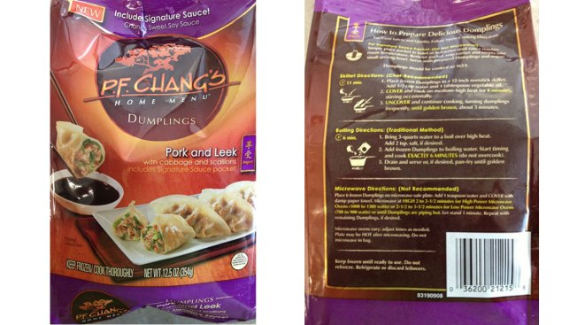 P.F. Chang's Recalls Frozen Dumplings