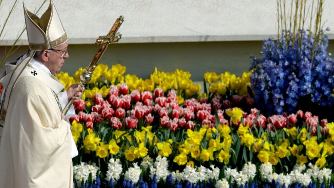 Pope Francis holds Easter Sunday mass