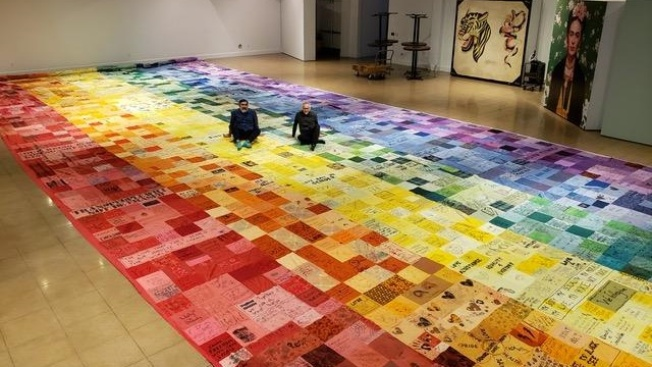 3,390 Fabric Tiles: Admire Huge Pride Flag in LBC