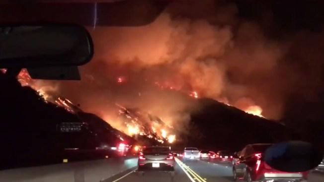 Hillside Brush Fire Prompts Evacuations Near Getty Center Nbc