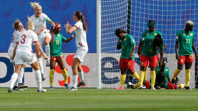 England Beats Seething Cameroon 3-0 to Advance in World Cup