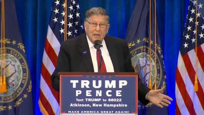 Ex-NH Gov. Slammed for Clinton Sex Remark at Trump Event